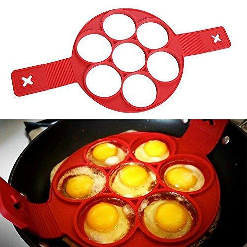 Oderola Omelette Crêpes Pancake moule, Dispositif Ustensiles de Cuisine Anti-adhésif en silicone outil de cuisine