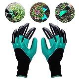 Gants de jardin de 2 paires, les deux griffes de main Gants de jardinage, rapides et faciles à creuser et usine, sans danger pour la taille rose pour des gants de femmes et d'hommes