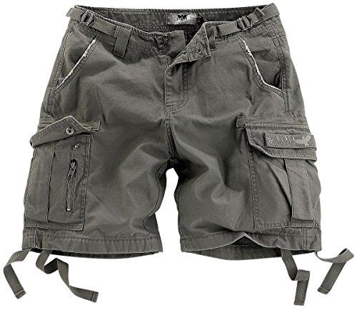 Black Premium by EMP Army Vintage Shorts Girl-Shorts oliv - Damen Shorts Cargo