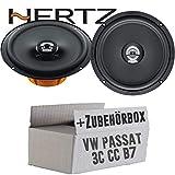 Hertz DCX 165.3-16cm Koax Lautsprecher - Einbauset für VW Passat 3C CC B6 B7 Front - JUST SOUND best choice for caraudio