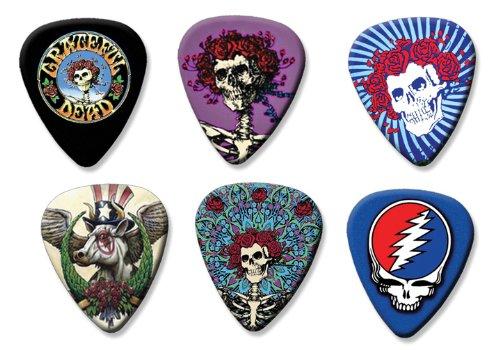 Grateful Dead Set of 6 Loose Gitarre Plektrum Plektron Picks ( Collection E ) (Gitarren Pick Grateful Dead)