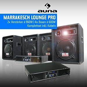 DJ PA Komplettset Marrakesch Lounge Pro