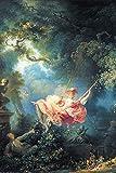 1art1 84712 Jean-Honoré Fragonard - Die Glücklichen Zufälle Der Schaukel, 1767 Selbstklebende Fototapete Poster-Tapete 180 x 120 cm