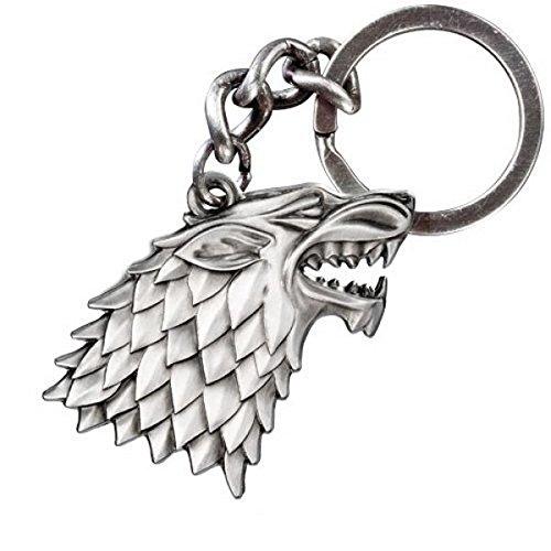 Game of Thrones -House Stark Wappen Schattenwolf Schlüsselanhänger Das Geschenk lizenziert