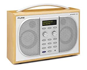 pure evoke 2s luxury portable stereo dab fm radio maple. Black Bedroom Furniture Sets. Home Design Ideas