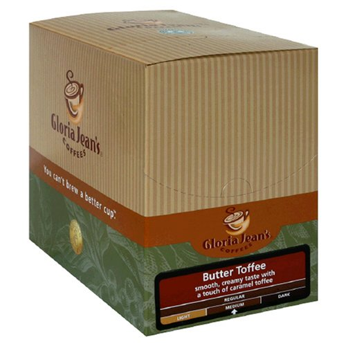 Gloria Jeans K-Cups, Butter Toffee, 24-Count Box (Pack of 2) by Gloria Jean's
