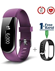 Fitness Armbanduhr, CHEREEKI Fitness Tracker mit Herzfrequenz [2017 Neuerscheinung] IP67 Wasserdicht Aktivitätstracker Smartwatch Armbanduhr mit Musiksteuerung Kompatibel mit iPhone und Android
