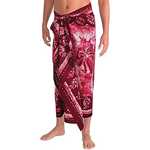 Playa de baño traje de desgaste para hombre sarong encubrimientos pareo pareo toalla de baño del