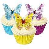 12 essbare Schmetterlinge, Esspapier, bunt