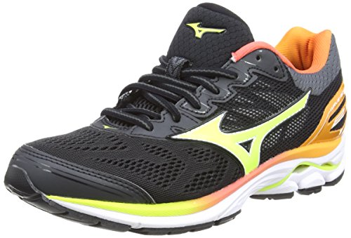 Mizuno Wave Rider 21 Osaka WOS, Scarpe da Running Donna, Nero (Black/SafetyYellow/White), 38 EU
