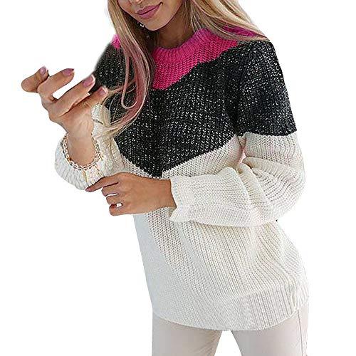 Preisvergleich Produktbild Sweater Damen Langarm Sweatshirt Lange Ärmel Stricken Oberteil Wrap Asymmetrische Pullover Slim Fit Outwear zum zelten von ABsoar