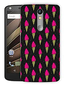 "Humor Gang Ice Cream Cone Love Neon Printed Designer Mobile Back Cover For ""Motorola Moto X Force"" (3D, Matte Finish, Premium Quality, Protective Snap On Slim Hard Phone Case, Multi Color)"