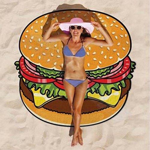 Pizza avvolgente telo mare avvolgente gonna velo picnic yoga opaco esterno avvolgente scialle sciarpa spiaggia mare coperta,005