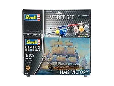 Revell Modellbausatz Schiff 1:450 - HMS Victory im Maßstab 1:450, Level 3, originalgetreue Nachbildung mit vielen Details, Segelschiff, Model Set mit Basiszubehör, 65819 von Revell
