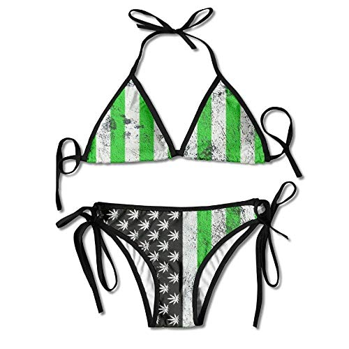 Old Navy Camo (Old Flag Weed Women's Two-Piece Suits Bikini Beach Bathing Swimsuit)