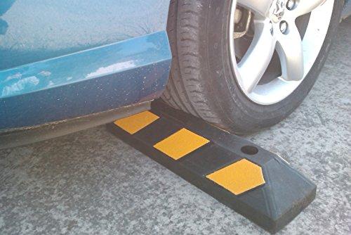 Einzel Gummi Parkplatzbegrenzung für Parkplätze und Garagen 55x15x10cm - 2