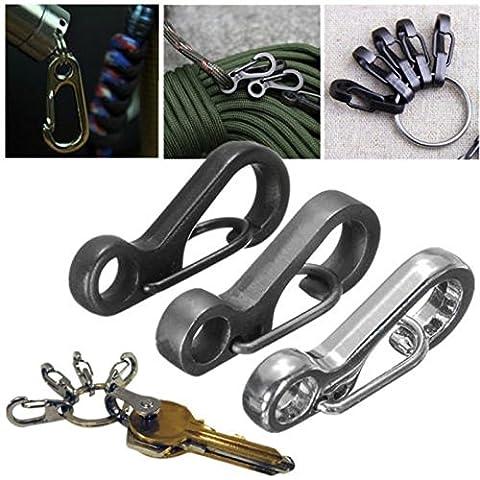 edc Mini 8Mousqueton Clips métal noir Noir
