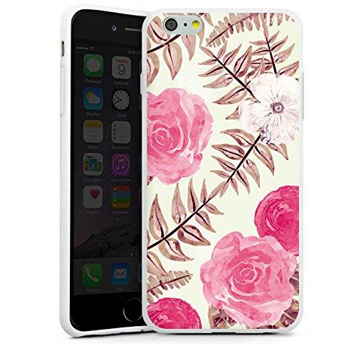 Apple iPhone X Silikon Hülle Case Schutzhülle Flower Frühling Vintage Silikon Case weiß