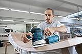 Bosch Professional GEX 125-150 AVE Exzenterschleifer, 3 Schleifteller (125mm, 150mm, 150mm 8+1 Lochung), 2x Schleifpapier, 400 W, L-Boxx - 4