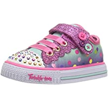 Skechers Girls Twinkle Toes: Shuffles - Dazzle Dots Light Up Sneakers