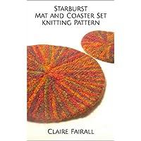 Starburst Mat and Coaster Set Knitting Pattern (English Edition)