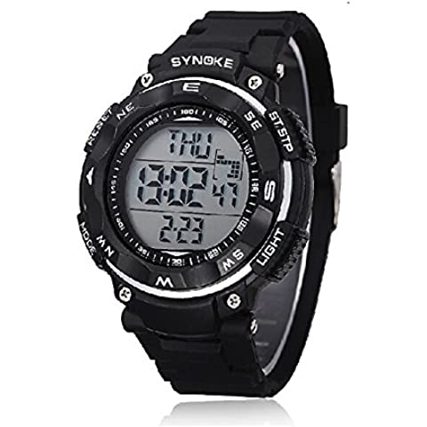 Personalizzata 5ATM unisex impermeabilità orologio sportivo retroilluminazione