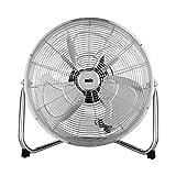 Windmaschine, Bodenventilator, Ventilator in Chrom Standventilator 18 Zoll/45 cm - * **2 Jahre Garantie***