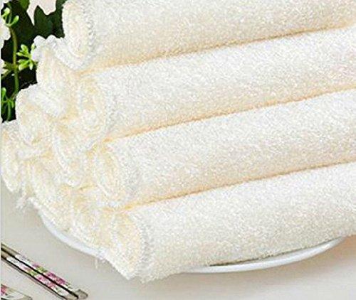 MaMaison007 non grassa sfilacciature lavaggio asciugamano 16 * 18 bianco II canovaccio -4 PZ