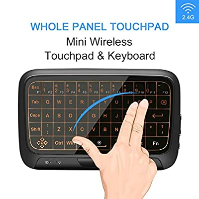 Wireless Keyboard and Mouse, OCDAY Backlit Mini Keyboard with Panel Touchpad, 2.4Ghz Portable Handheld Android TV Box, Remote Control for Mac OS, Linux, HTPC, IPTV, Google, Smart TV Box, XBMC, Windows 2000 XP/for Vista/7/8/10