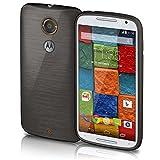 Motorola Moto X2 Hülle Silikon Schwarz [OneFlow Brushed