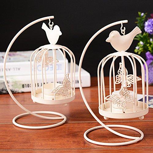 e-Vogelkäfig zum Aufhängen Kerzenhalter Party Hochzeit Home Dekoration (Bulk-taper Kerzen)