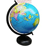 Ajmoda Educational/Antique Globe With Black Finish Metal Arc And Base- 8 Inches Color Blue
