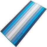 Aqua-Textil Wellness 0010148 Saunatuch 80 x 200, Streifen blau, Baumwolle Frottee Sauna Handtuch Strandtuch