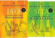 Jaya: An Illustrated Retelling of the Mahabharata + Sita: An Illustrated Retelling of Ramayana(Set of 2 Books)