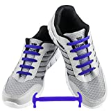 WELKOO® Cordones elásticos de silicona sin nudo impermeables para calzado de adulto -16 pza,Talla ADULTO azul