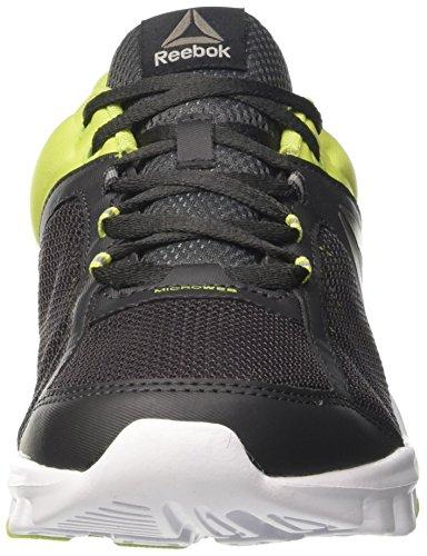 Reebok Herren Yourflex Train 9.0 Mt Sneaker Low Hals Schwarz (Coal/kiwi Green/white/pewter/grey)