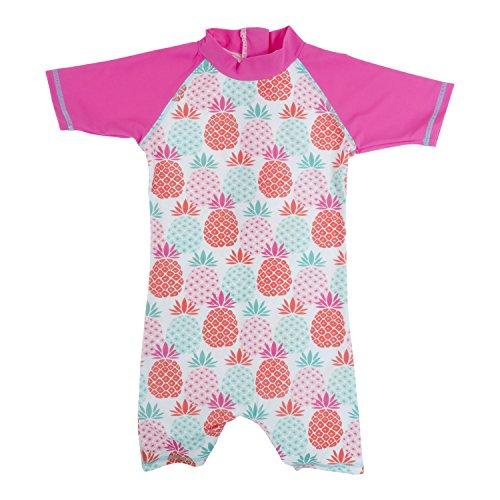 Baby Banz Shorty di Natación Termico ANTI-UV Manga Corta Piña, 6 meses.