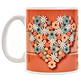 Gifts Flowers Food Best Deals - Bon Choice Flower Heart Quote Gift Coffee Mug