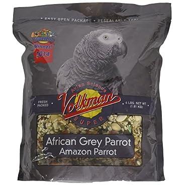 Avian Science Volkman Super African Grey Bird Food 4 Lb