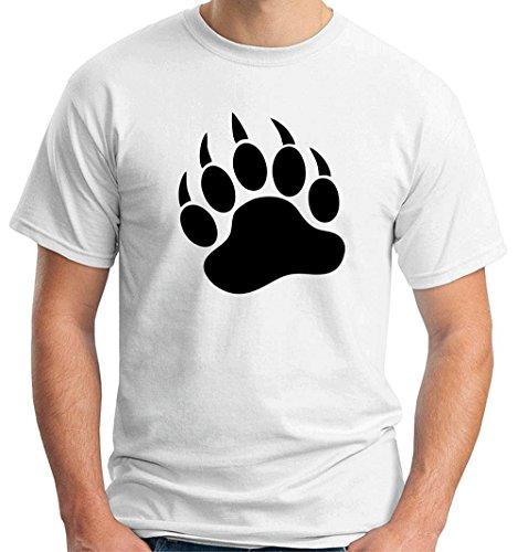 T-shirt TR0020 Bear Paw 25mm 1 Pin Badge Button LBGT Gay Pride Rainbow Bear Scene, Taglia large