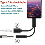 USB C Audio Adaptateur, Type C Câble Connecteur Adaptateur pour Huawei Mate 10 Pro, Huawei P20/P20 Pro, Moto Z/Z Force/Z2 Force et Xiaomi 6/Note 3 Téléphone