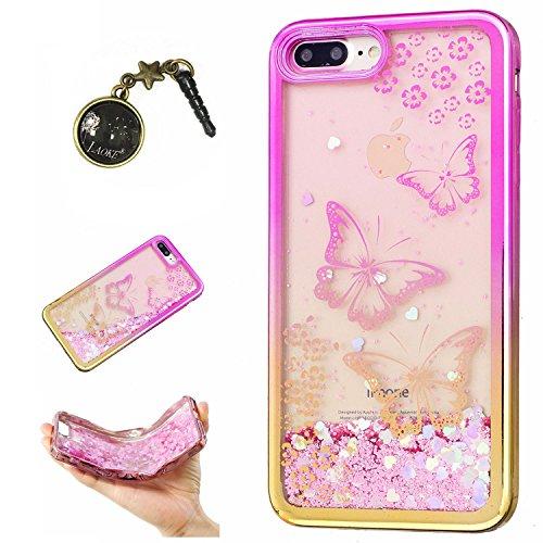 Preisvergleich Produktbild Laoke für Apple iPhone 7 Plus (5.5 Zoll) Hülle Schutzhülle Handy TPU Silikon Hülle Case Cover Durchsichtig Gel Tasche Bumper ( + Stöpsel Staubschutz) (9)
