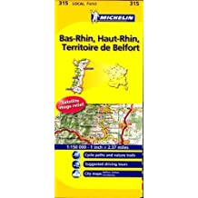 Michelin Map France: Bas-Rhin/ Belfort 1:150K MH315 (Maps/Local (Michelin)) (English and French Edition) by Michelin (2011-01-16)