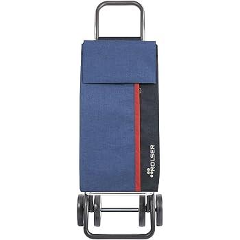 Rolser Einkaufstrolley Kangaroo KAN002/BL Tweed DOS+2 Farbe Blau, 390 x 310 x 1050 mm