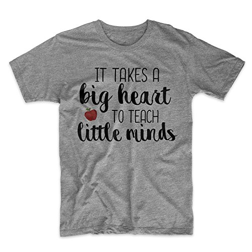 It Takes A Big Heart To Teach Little Minds Teacher Herren T-Shirt Grau