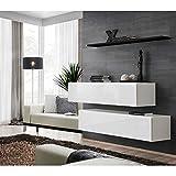 e27df621339 JUSTyou SWOTCH SB II Muebles de salón Comedor Tamaño  110x130x30 cm Blanco Negro  Mat