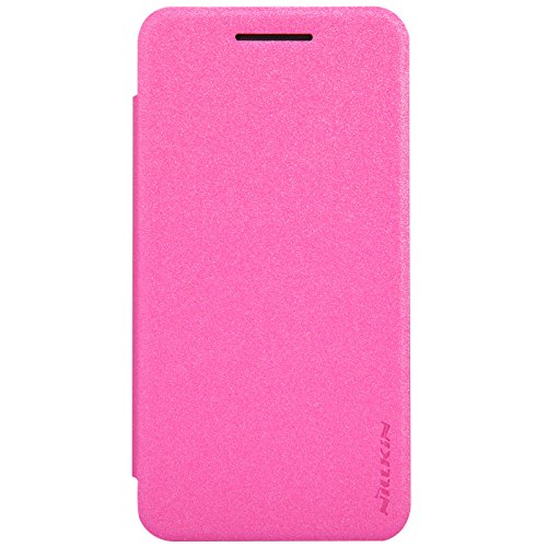 Nillkin Sparkle Leather Flip Stand Bumper Back Case Cover For Asus Zenfone 4 A450CG - Pink  available at amazon for Rs.399