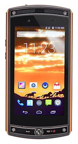 ToughGear™ - Edge Smartphone (4,5 Zoll (11.4 cm) Touch-Display, Android 4.4.2, 16GB Speicher, 13,0 Megapixel Kamera, Dual-SIM, 4G LTE Simlock Frei, Wasserdicht, Staubfest, Stoß und sturzfest) Orange