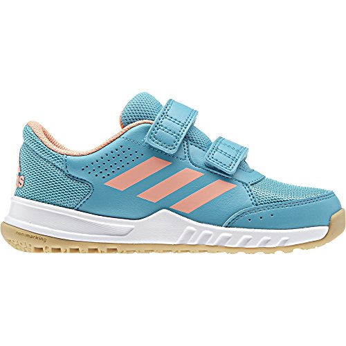 adidas Kinder Hallenschuh INTERPLAY 2 CF K Klett mint / coral, Größe:36.5