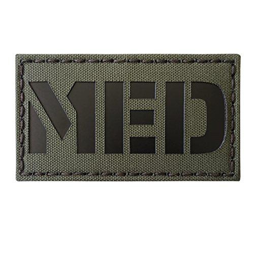 Ranger Green Infrared MED Medical IR EMS 3.5x2 Tactical Morale Fastener Patch -